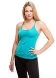 Slim Aerobics fitness woman portrait Stock Photos