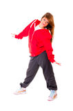 Slim athletic girl dancing hip-hop Stock Photo