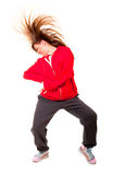 Slim athletic girl dancing hip-hop Stock Photography