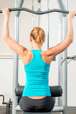 Slim athletic girl in the gym Stock Photo