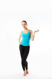 Slim athletic woman in a full-length Stock Photo