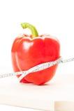 Slim bantar med begrepp för röd peppar Fotografering för Bildbyråer