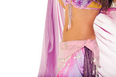 Slim belly dancer Stock Images