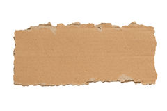 Slim Blank Torn Piece of Cardboard Isolated XXXL Royalty Free Stock Photo