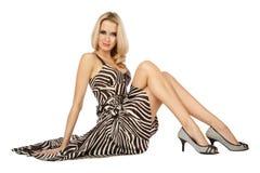 Slim blond Stock Image