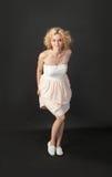 Slim blonde Royalty Free Stock Photography