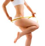 Slim body on white background Stock Photo