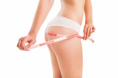 Slim body of woman. Stock Images