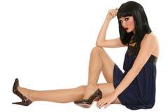 Slim brunette Royalty Free Stock Image
