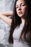 Slim brunette. Royalty Free Stock Photos
