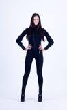 Slim brunette girl Royalty Free Stock Images