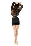 Slim brunette possing back Royalty Free Stock Photos