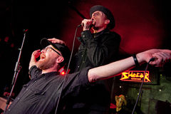 Slim Cessna's Auto Club (American country music band) performs  at Sidecar. BARCELONA - FEB 4: Slim Cessna's Auto Club (American country music band) performs  at Stock Photo