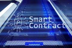 Slim contract, blockchain technologie in moderne zaken royalty-vrije stock foto