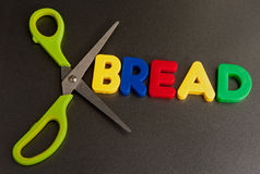Slim: cut out bread Stock Photos