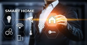 Slim de Controlesysteem van de huisautomatisering Het Netwerkconcept van Internet van de innovatietechnologie royalty-vrije stock fotografie