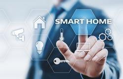 Slim de Controlesysteem van de huisautomatisering Het Netwerkconcept van Internet van de innovatietechnologie royalty-vrije stock foto's