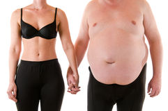 Slim and fat Royalty Free Stock Photos