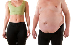 Slim and fat Stock Images