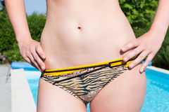 Slim female belly and hips Royalty Free Stock Photos
