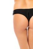Slim female buttocks in lingerie Stock Photos