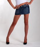 Slim female legs Stock Image