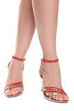 Slim female legs Stock Photos