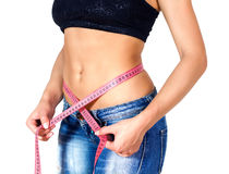 Slim Fit Diet Weight Measuring Waist Stock Image