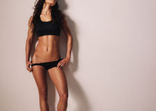 Slim and fit female model Royalty Free Stock Image