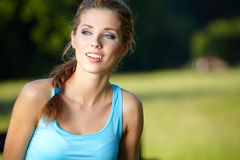 Slim fitness brunette posing Stock Image