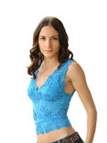 Slim girl royalty free stock image