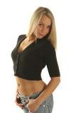 Slim girl. Royalty Free Stock Photos
