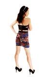 Slim girl in dress. Royalty Free Stock Photos