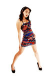 Slim girl in dress. royalty free stock images