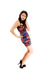 Slim girl in dress. Royalty Free Stock Photos