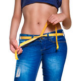 Slim girl Stock Images