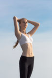 Slim girl on open air Stock Photography