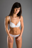 Slim girl posing in a sensual lingerie Royalty Free Stock Photo