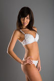 Slim girl posing in a sensual lingerie Royalty Free Stock Photos