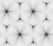 Slim gray continuously stripes hexagons Royalty Free Stock Photography