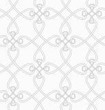 Slim gray cross interlocking ornament Royalty Free Stock Images