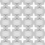 Slim gray four foils with offset on grid Royalty Free Stock Photo