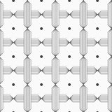 Slim gray hatched crosses reticulated Royalty Free Stock Image