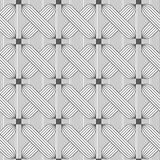 Slim gray hatched crosses on stripes Royalty Free Stock Images