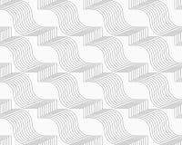 Slim gray hatched diagonal ribbons Stock Photography