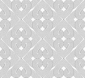 Slim gray hatched hearts forming rectangles Royalty Free Stock Images
