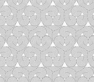 Slim gray hatched hearts overlapping Royalty Free Stock Photos