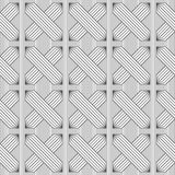 Slim gray hatched rectangles on stripes Royalty Free Stock Photography