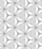 Slim gray hatched small trefoils and triangles Royalty Free Stock Image