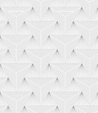 Slim gray hatched triangle Royalty Free Stock Image